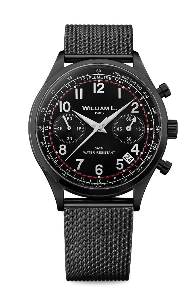 WILLIAM L. 1985 Vintage Style Chronograph