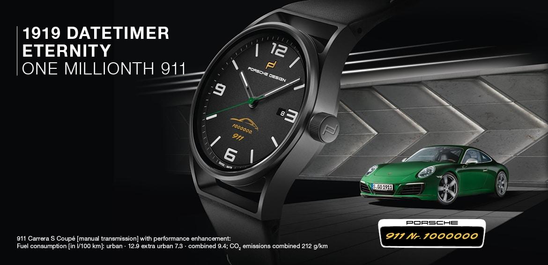 Porsche Design 1919 Datetimer Eternity One Millionth 911 Limited Edition