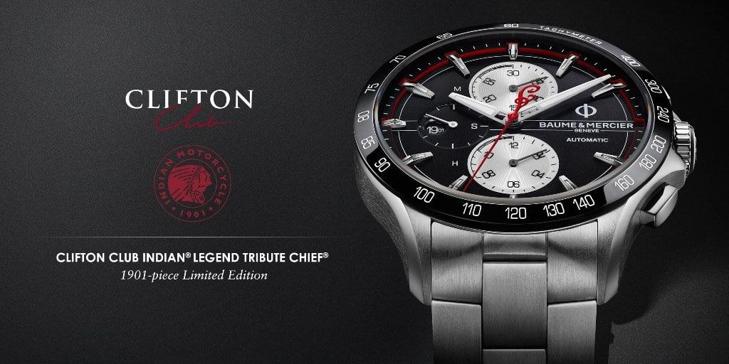 "Baume et Mercier Clifton Club ""Indian Legend Tribute Chief Limited Edition"""