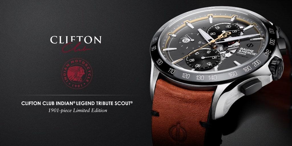 """Baume et Mercier Clifton Club """"Indian Legend Tribute Scout Limited Edition"""""""