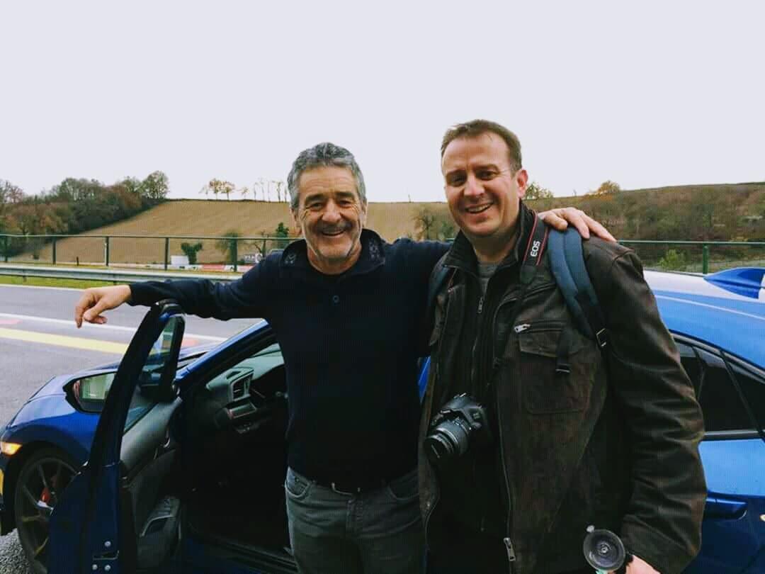 Philippe essai Honda Type R 2017 avec Bruno Saby