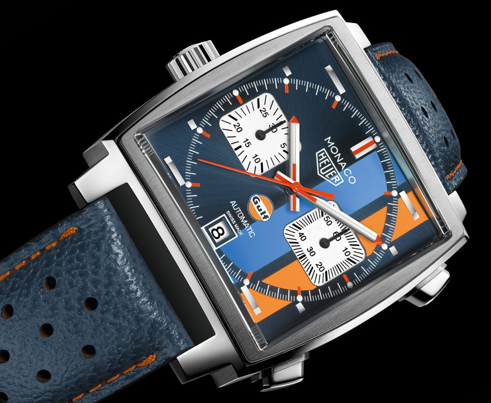 tag heuer monaco gulf special edition 2017 pour les 50 ans de gulf racing automotiv press. Black Bedroom Furniture Sets. Home Design Ideas