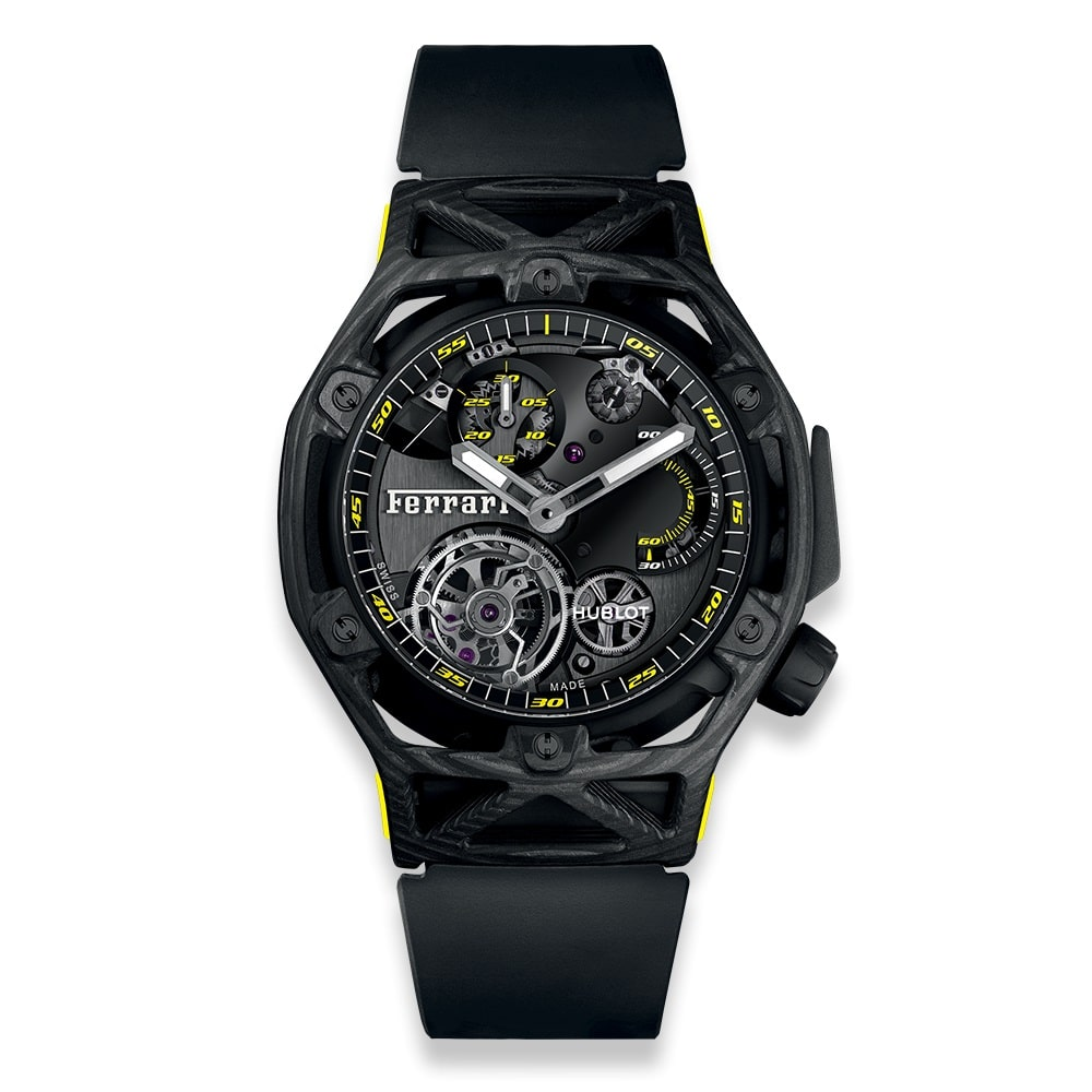 Hublot Techframe Ferrari Tourbillon Chronograph Carbon Yellow