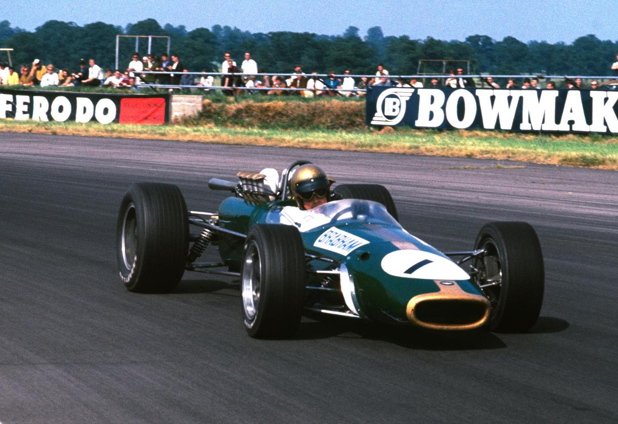 Jack Brabham racing the Brabham BT24