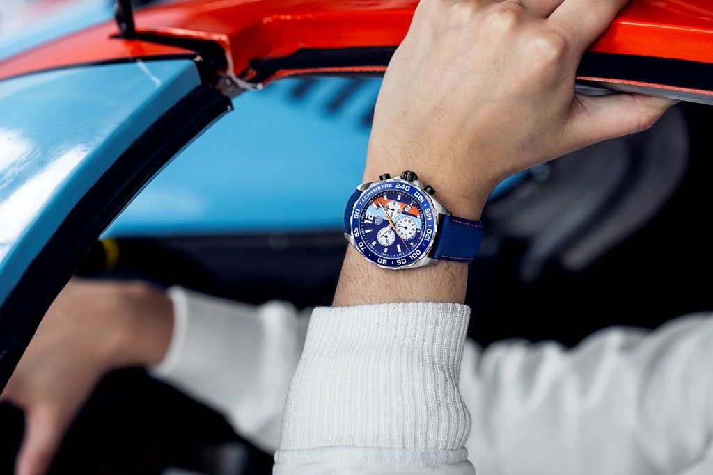 TAG Heuer Formula 1 Edition Spéciale Gulf 50th 24H du Mans 2018-3
