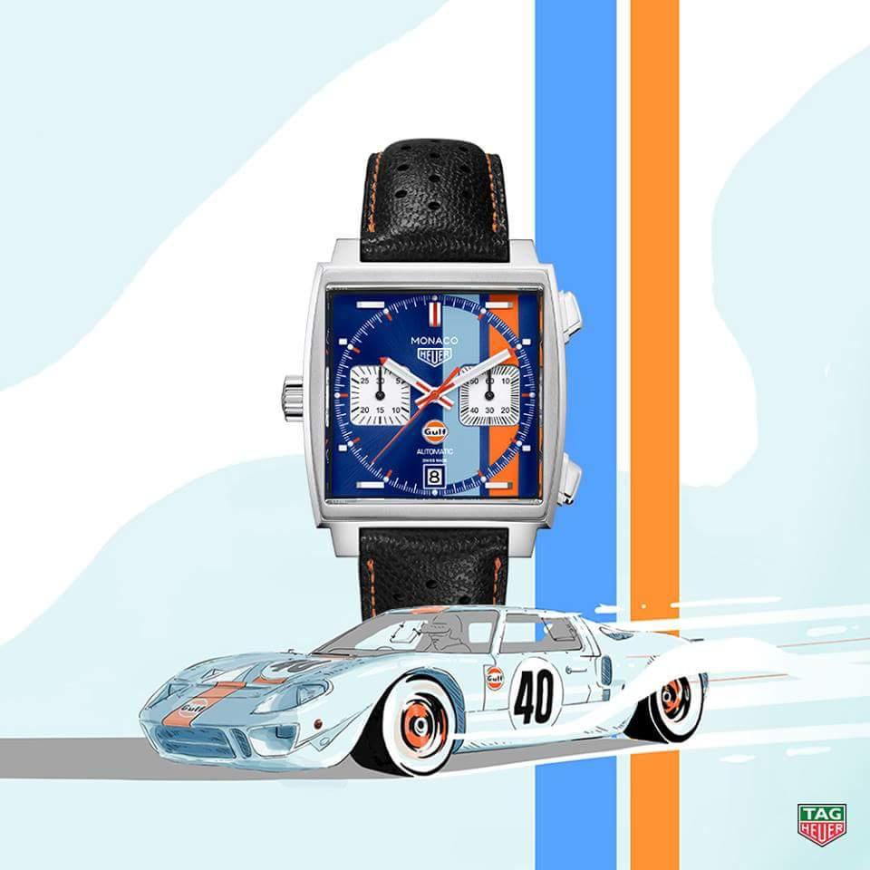 TAG Heuer Monaco Edition Spéciale Gulf 50th – 24H du Mans 2018