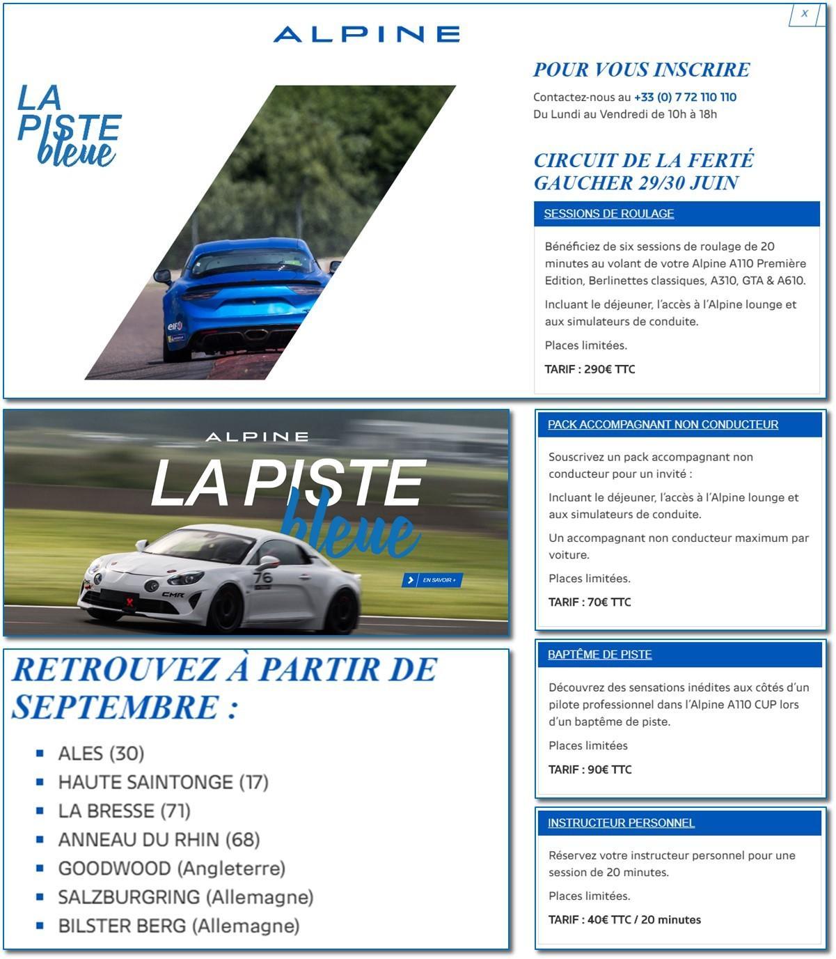 Alpine – La Piste Bleue 2018