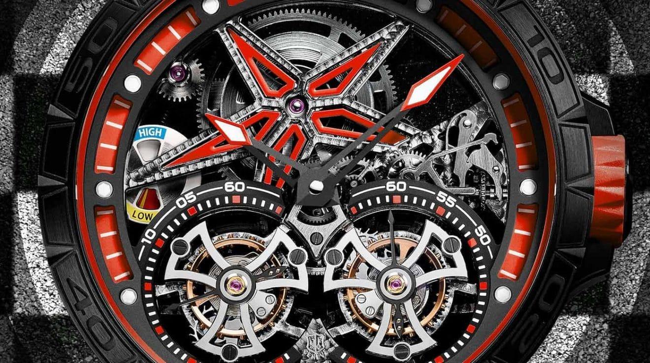 Roger Dubuis Excalibur Spider Pirelli Double Tourbillon Volant Rouge