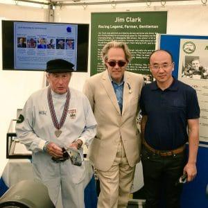 Jacky Stewart, Charles Henry Gordon-Lennox, 11e duc de Richmond, 6e duc de Gordon, duc d'Aubigny et Mr. Feng Qingfeng, CEO Lotus Lotus Group