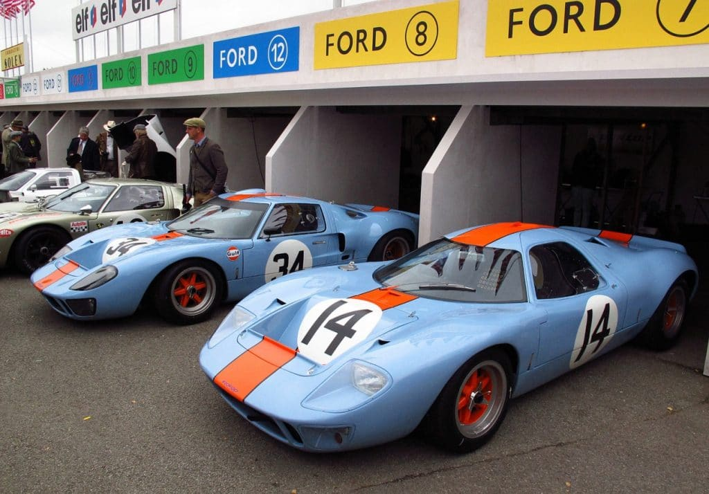 Mirage M1 1967 et Ford GT40 1968 - Ecurie Mirage Gulf Racing John Wyer