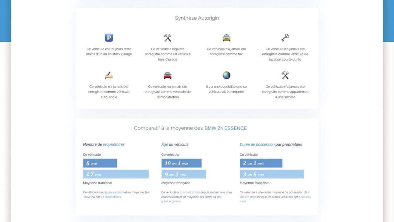 Rapport Autorigin BMW Z4 – 2