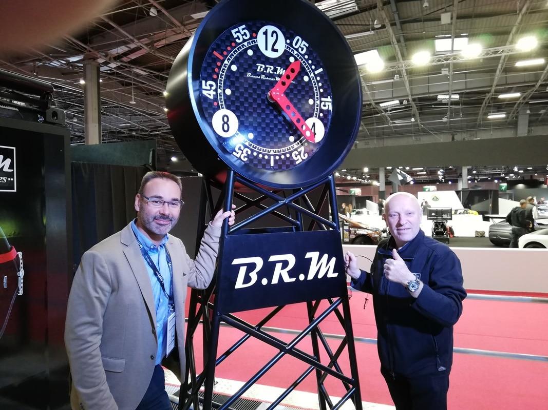 Rémy Solnon (AutomotivPress) et Bernard Richards (B.R.M Chronographes) – Mondial Auto 2018