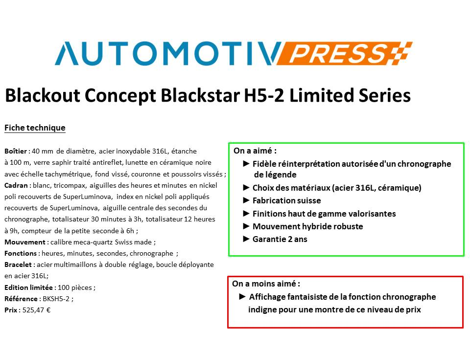 Essai Blackout Concept Blackstar H5-2 Limited Series