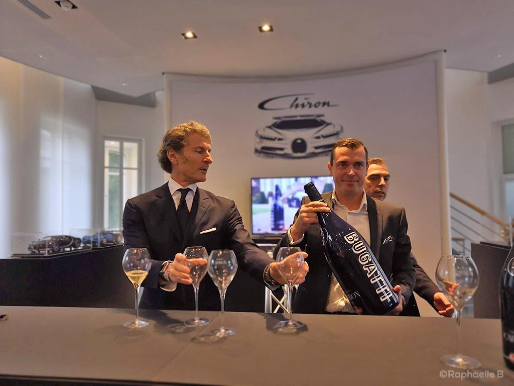 Signature partenariat Bugatti - Champagne Carbon à Molsheim