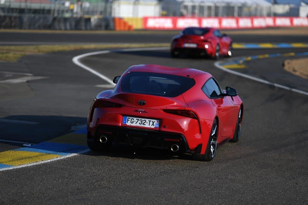 Tour du circuit des 24 Heures du Mans en Toyota GR Supra