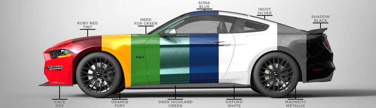 Ford Mustang 2019 colors