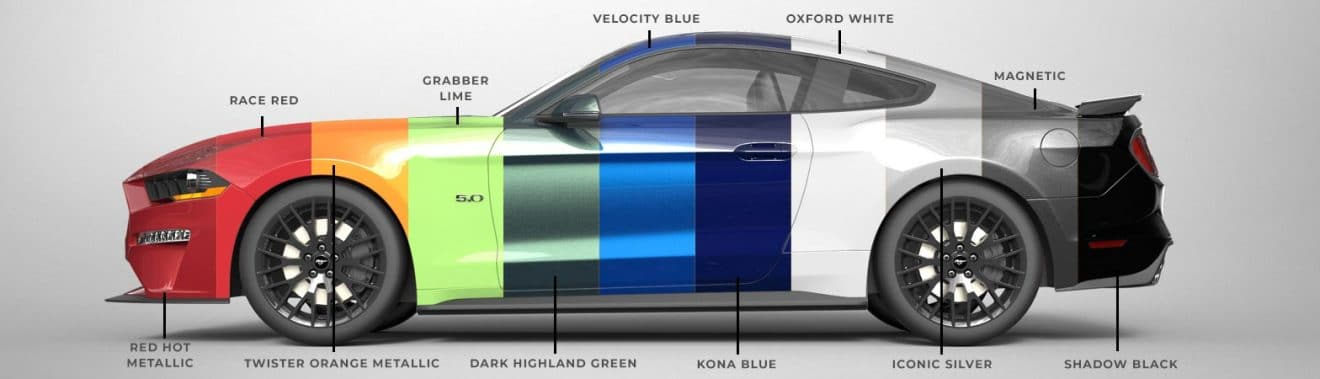 Ford Mustang 2020 colors