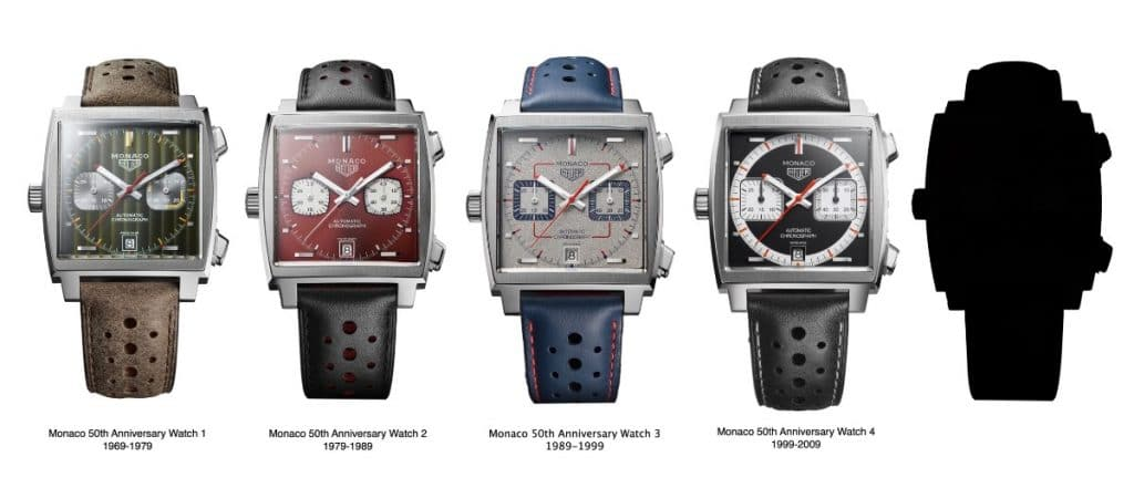 TAG Heuer Monaco 50th anniversary séries