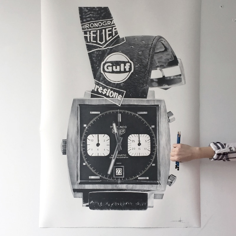 JK a timepieces Heuer Monaco 1133B - Julie Kraulis