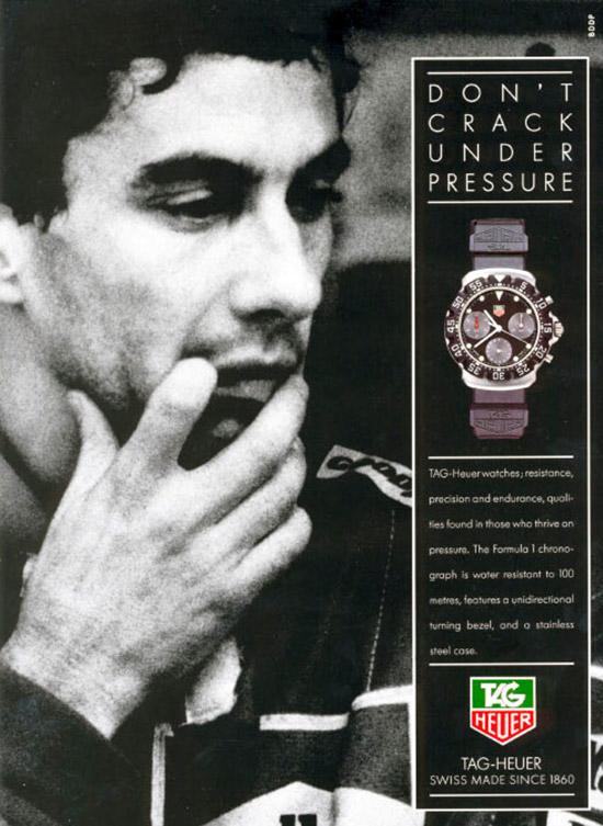 Publicité TAG Heuer & Ayrton Senna 1991
