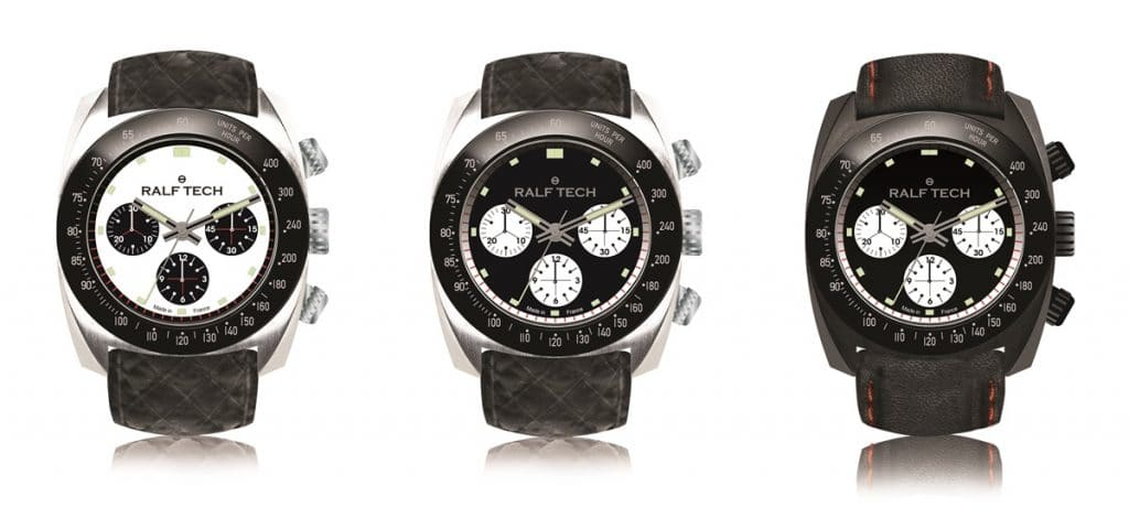 "Ralf Tech WRV Chronographe Automatique ""Tachymètre"" ref. WRV 3001 / 3002 / 3003"