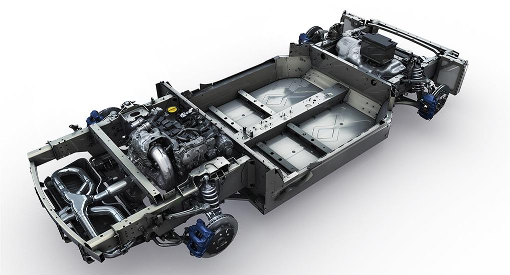 Alpine A110 berceau moteur