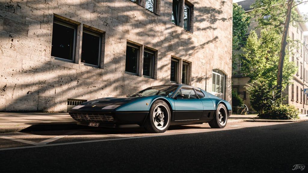 Ferrari 512BB, bleu Ribot, Copyright Jpog