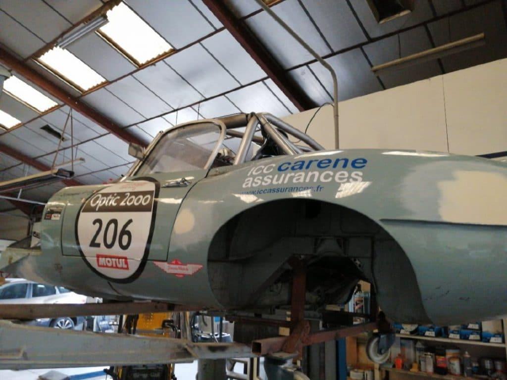 Jaguar Type E réparation arrière gauche - JP Lajournade