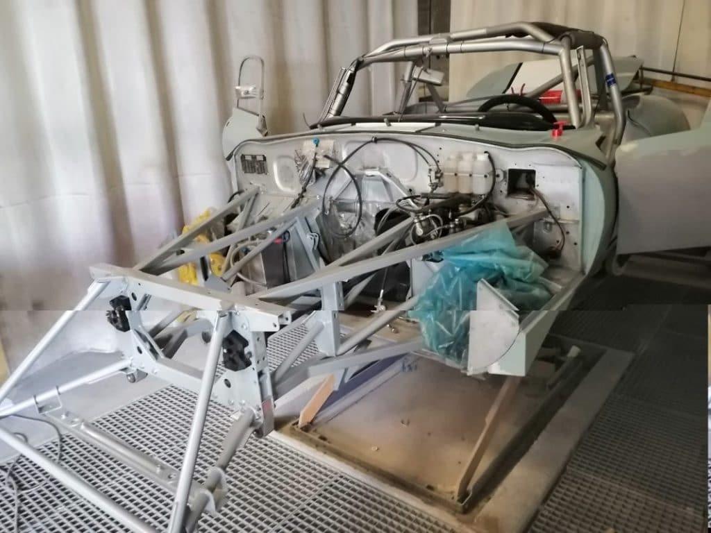 Jaguar Type E châssis posé - JP Lajournade