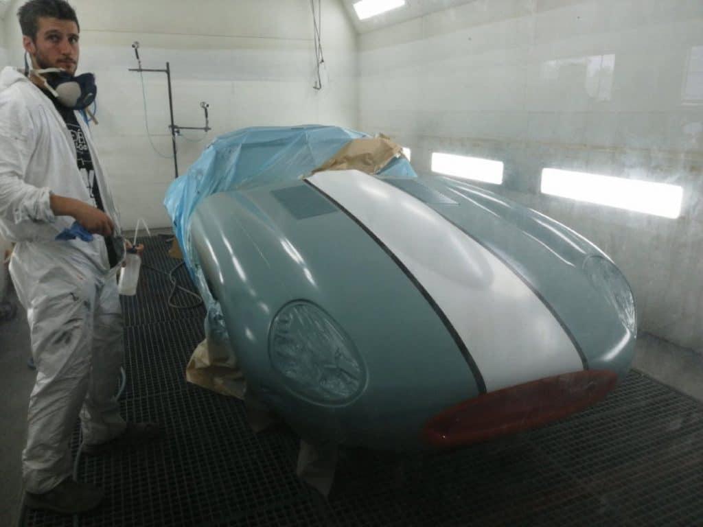 Jaguar Type E peinture capot - JP Lajournade