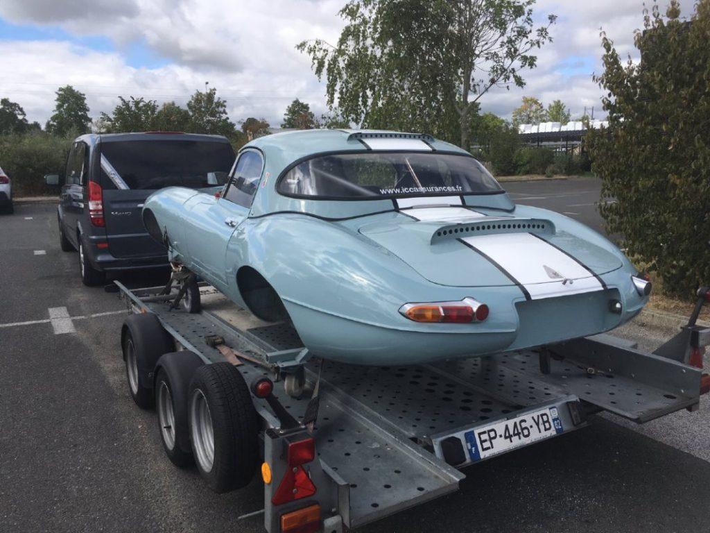 Jaguar Type E sortie de chez le carrossier - JP Lajournade