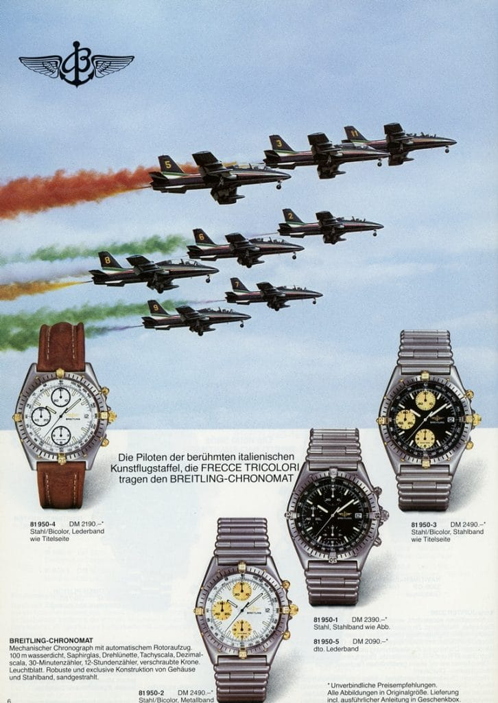 Extrait d'un catalogue Breitling de 1987 - Chronomat