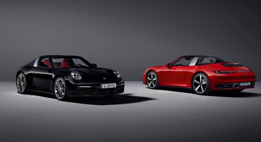 Porsche 911 Targa 4 et 4S type 992