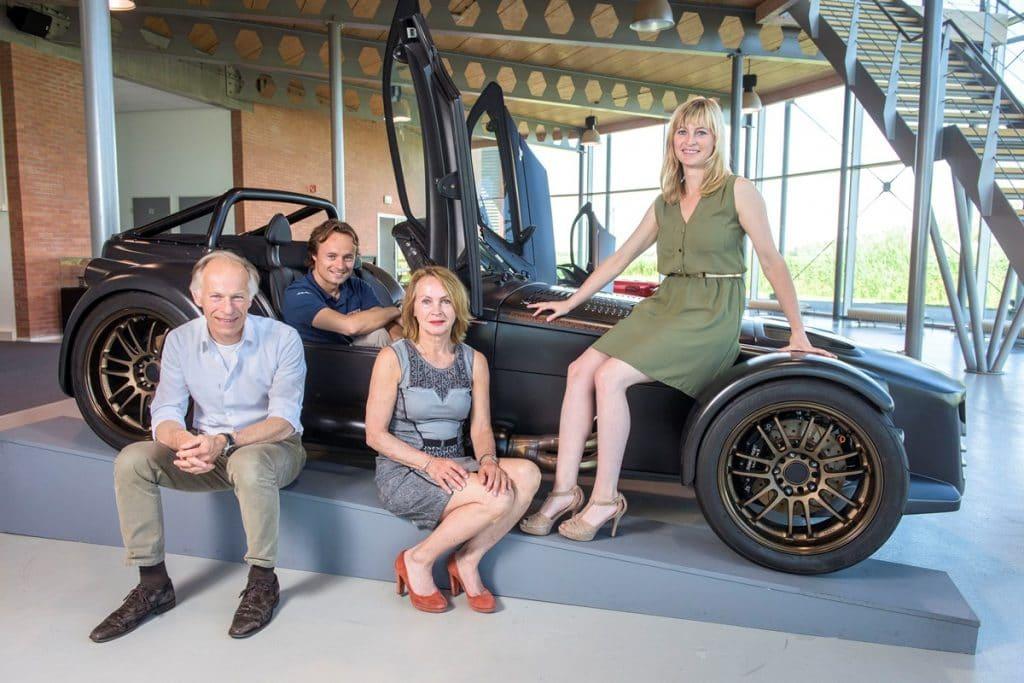 Donkervoort family with son Denis, daughter Amber, mother Marianne and father Joop (Ronald van den Heerik)