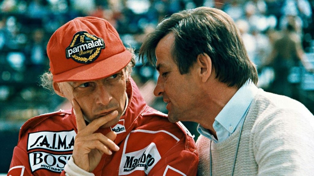 Niki Lauda and Hans Mezger 1984