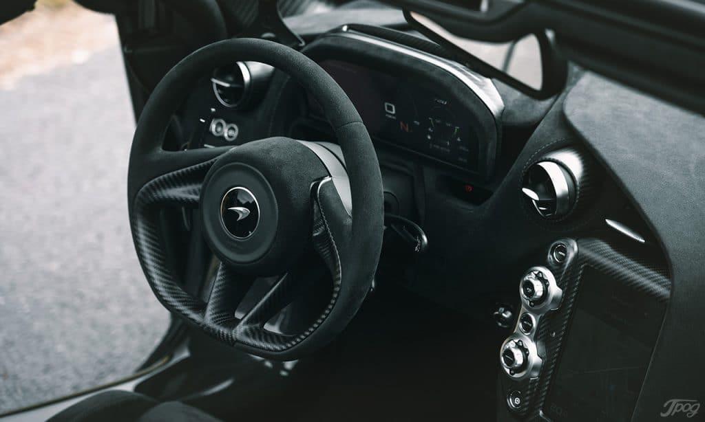 Mclaren 720S Spyder, intérieur.