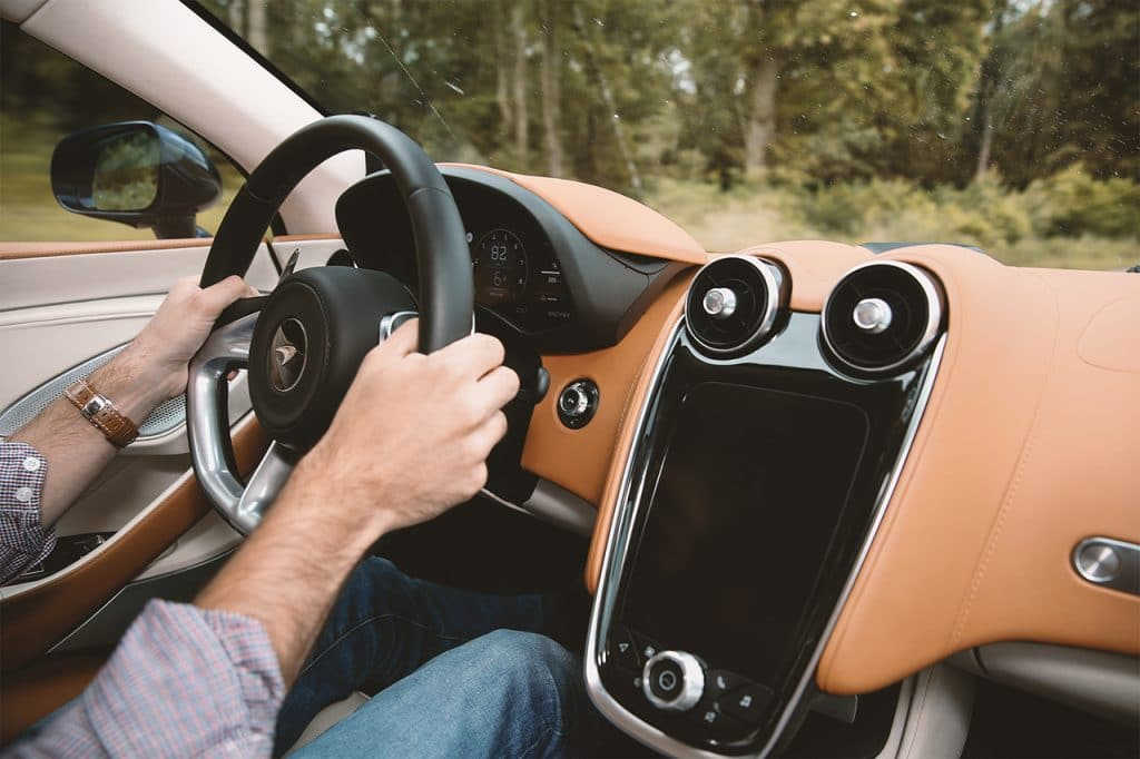 McLaren GT, roulage.