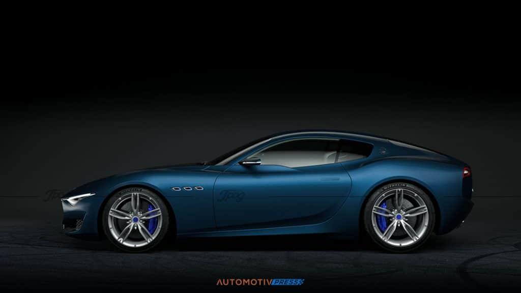 Maserati Alfieri profil bleu