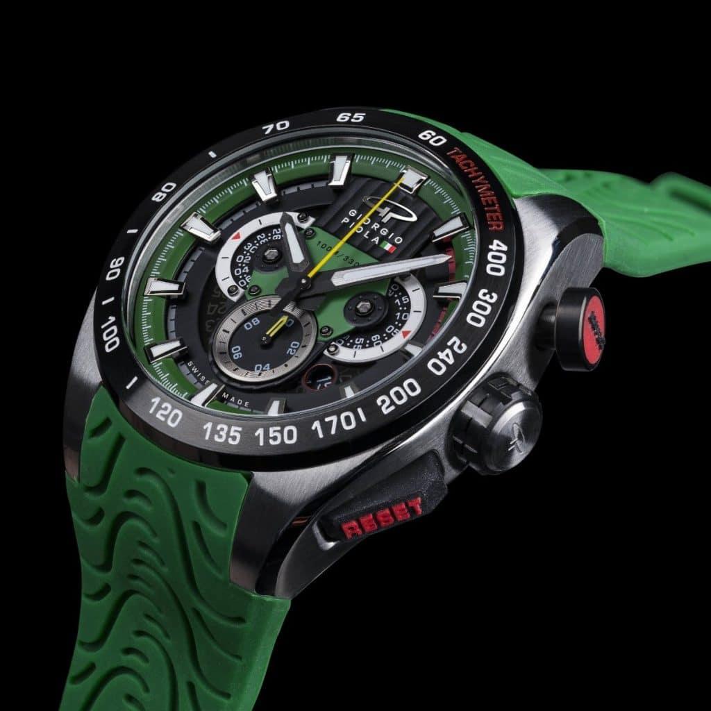 GIORGIO PIOLA Shift Green Swiss Sport Chrono
