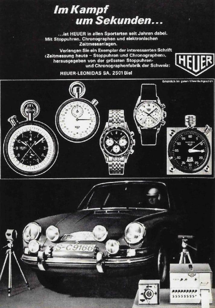 Pub Heuer avec Porsche 356