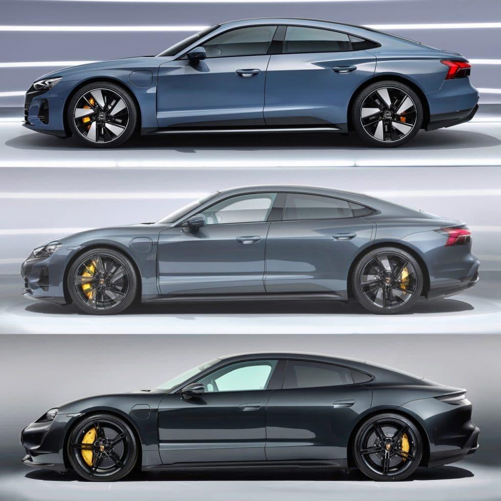 Audi e-tron GT vs Porsche Taycan