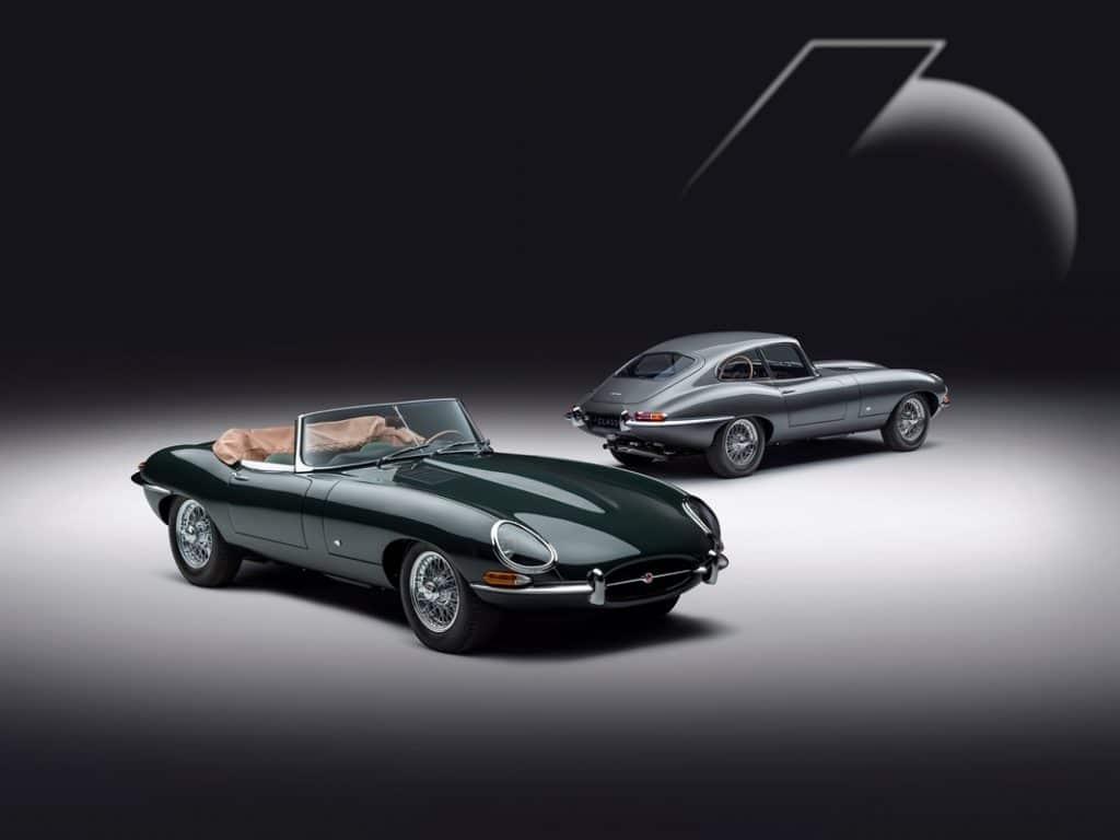 """Jaguar Type E """"Series 1"""" 3,8 litres coupé """"9600 HP"""" et cabriolet """"77 RW"""""""
