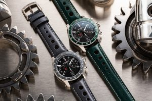"Bremont Jaguar E-Type 60th ""Drop Everything Green"" Set et ""Flat Out Grey"" Set"