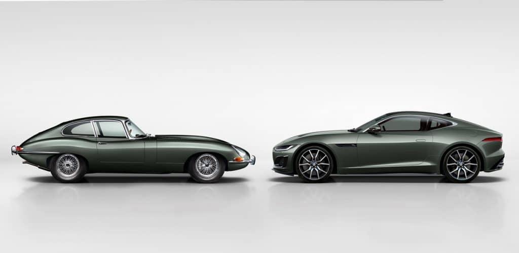 Jaguar E-Type et F-Type 60 Heritage