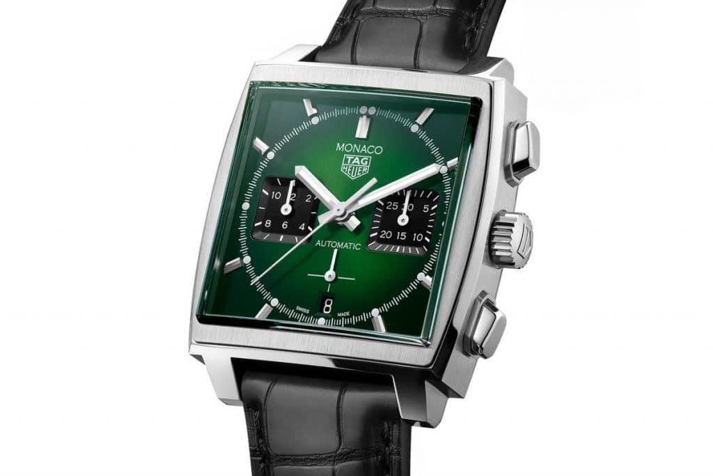 "TAG Heuer Monaco ""Green Dial Edition Limitée"""