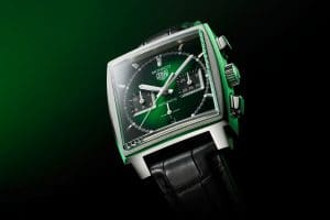 "TAG Heuer Monaco ""Green Dial Edition Limitée"""