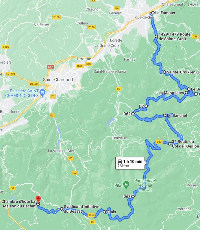 jour 1 : de Paris au Parc naturel Régional du Pilat