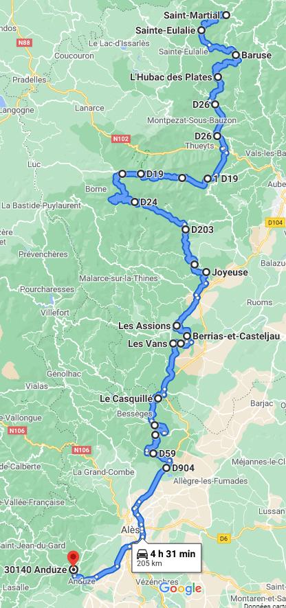 Jour 2 : Parc Naturel Régional des Monts d'Ardèche : du Parc Naturel Régional du Pilat aux portes des Cévennes