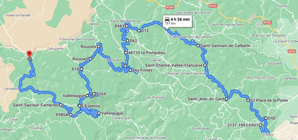 Jour 3 : Les Cevennes puis passage dans les gorges entre Aveyron et Lozère